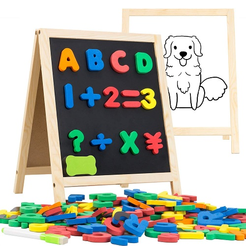 INNOCHEER Magnetic Letters and Numbers with Easel for Kids